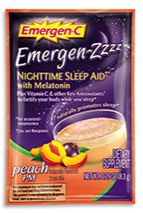 Image of Emergen-C ZZZ Sleep Aid Powder Packet  Peach PM