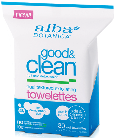 Image of Good & Clean Dual Texture Exfoliating Towelettes
